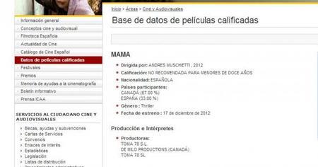 Datos Ministerio Cultura de