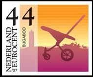 El carrito Bugaboo en los sellos postales de Holanda