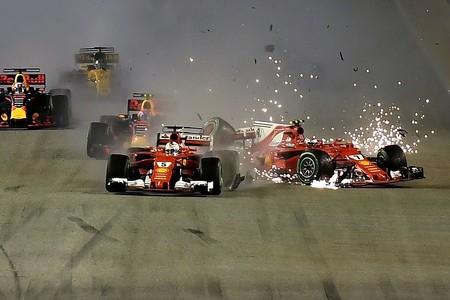 Vettel Raikkonen Singapur F1 2017