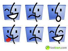 Emoticonos gratuitos del Finder