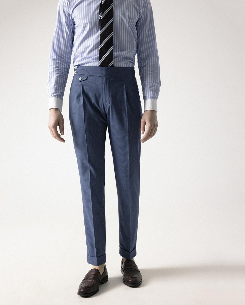 Pantalón de vestir de hombre slim en azul