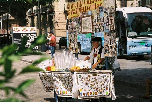 Vendedor en Palermo, Italia