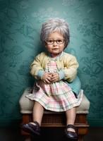 Niños convertidos en ancianos en una graciosa serie de imágenes
