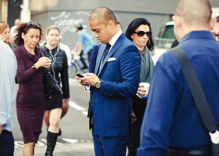Street Style Blue Suit