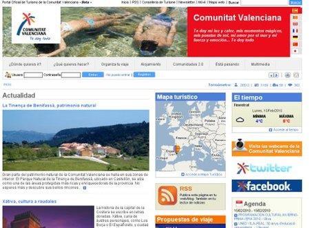 Turismo de la Comunidad Valenciana renueva su web