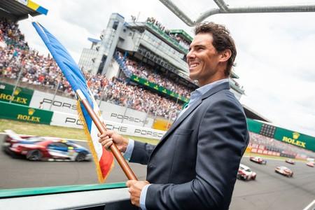 Rafa Nadal, maestro de ceremonia en las 24 Horas de Le Mans