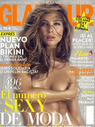 Elsa Pataky se desnuda por las mujeres en la revista Glamour