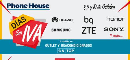 Días Sin IVA en Phone House: durante el 8, 9 y 10 de octubre ahorras el 21% de IVA en smartphones