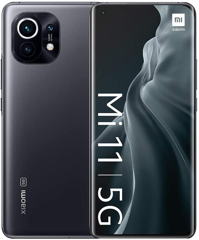 "Versión Global Xiaomi Mi 11 Smartphone, 8GB + 128GB Snapdragon 888 Octa Core, Cámara 108MP + 20MP, Pantalla AMOLED de 6.81"" (Gris)"