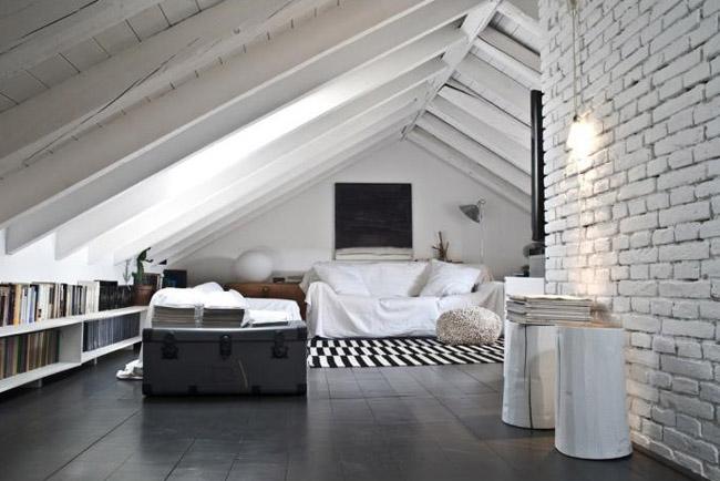 Decoracion Loft Rustico ~ Un sencillo y r?stico loft italiano