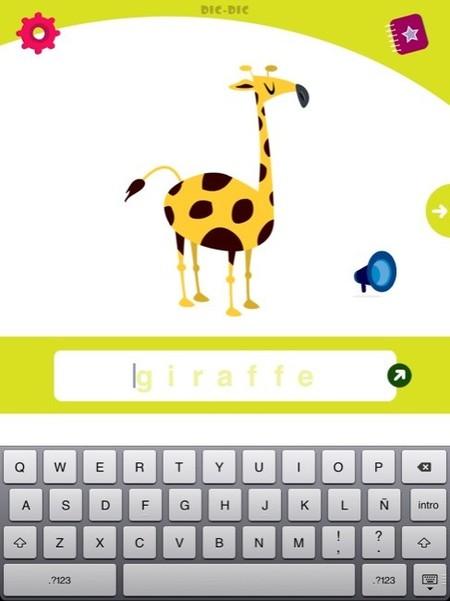 La aplicación Dic-Dic para que los peques aprendan vocabulario y ortografía en el iPad