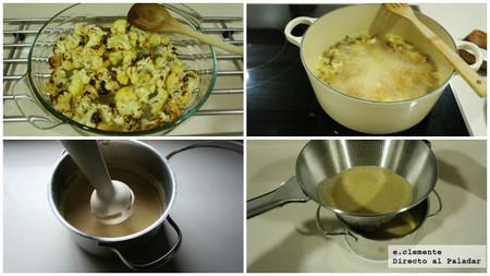 Crema de coliflor asada con comino
