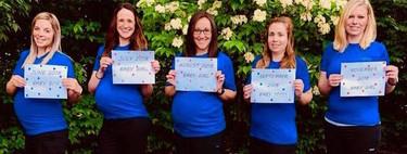 Cinco compañeras de trabajo embarazadas a la vez: la historia que demuestra que el embarazo es contagioso