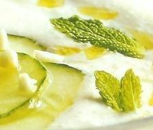 Sopa fría de yogurt