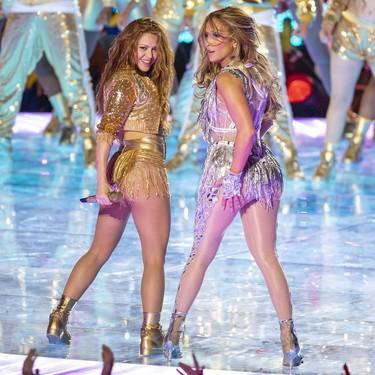 Así ha sido el espectacular homenaje de Shakira y Jennifer Lopez a la cultura latina con reguetón incluido por primera vez en la Super Bowl