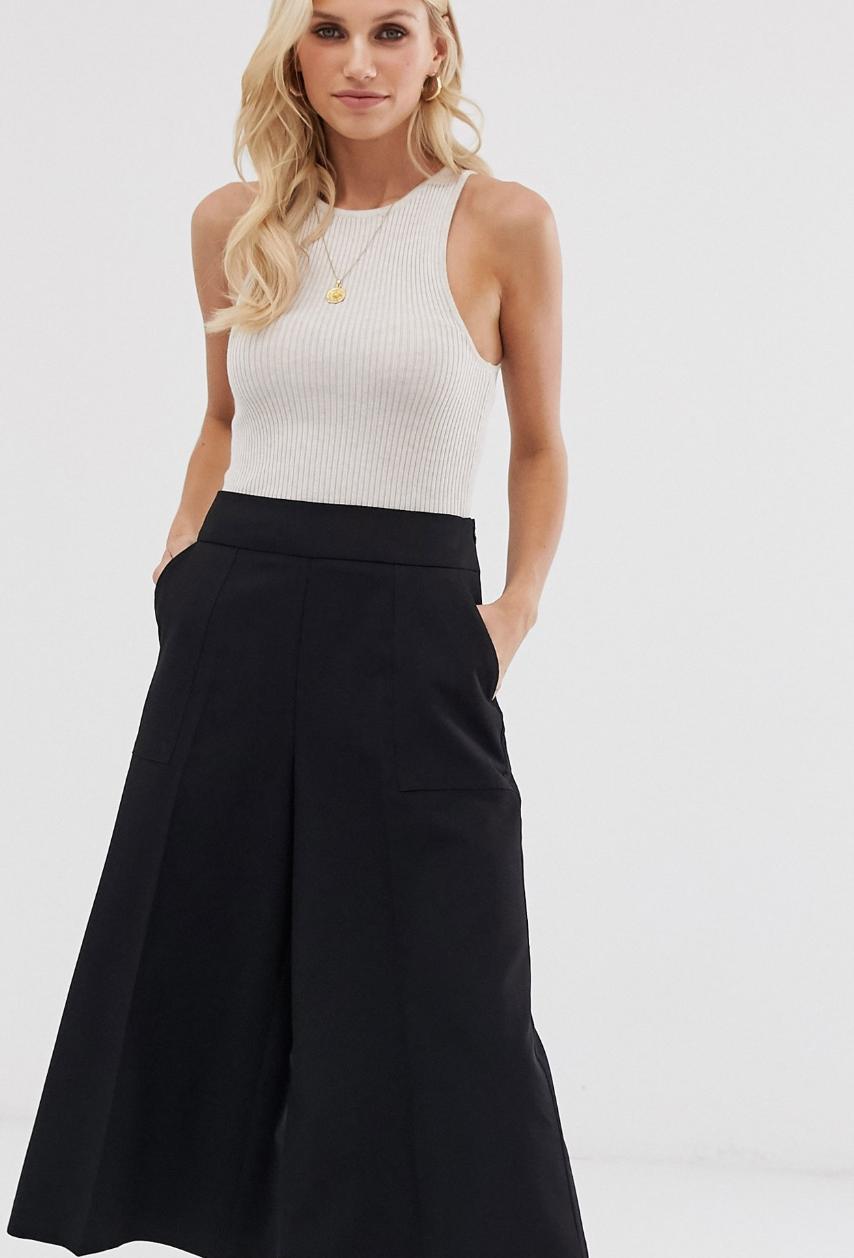 Falda pantalón de sastre de ASOS DESIGN