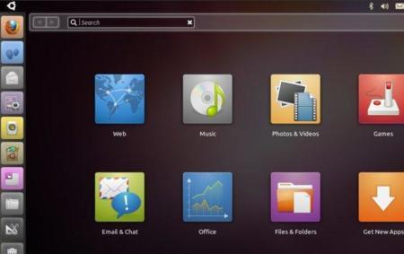 La interfaz Unity para netbooks.