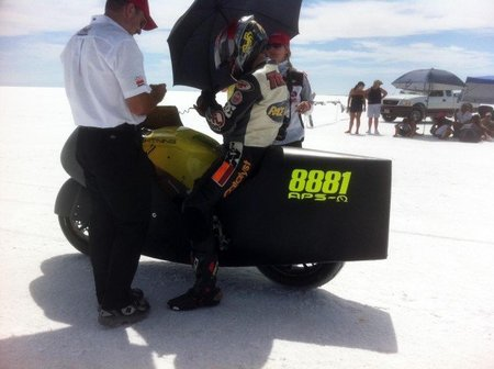 Nuevo récord de velocidad con una moto eléctrica: 332 km/h
