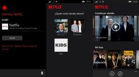 Netflix se actualiza agregando integración con Cortana, soporte para múltiples perfiles, y más