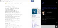 Novedades musicales en Bing y Cortana: letras de canciones y avisos de conciertos