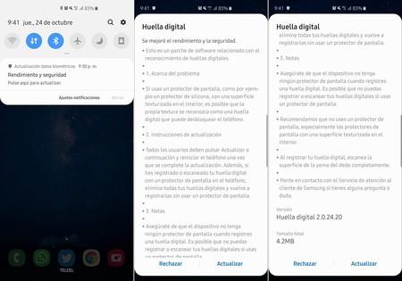 Actualizacion Seguridad Sensor Huellas Galaxy S10 Plus Mexico