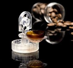 Lentes de contacto comestibles con sabor a café