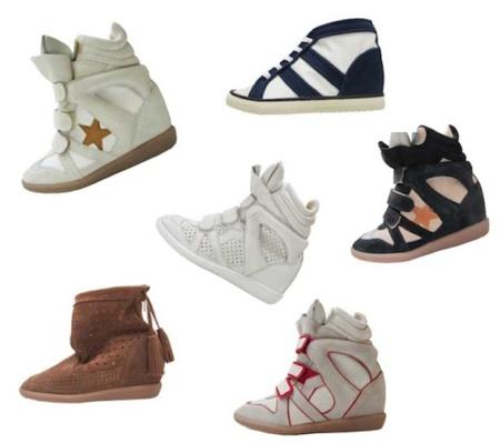 Isabel Marant sigue diseñando más zapatillas, aunque las firmas se han anclado en un solo modelo...