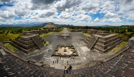 Panoramic View Of Teotihuacan