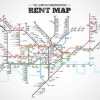El mapa de metro que muestra cuánto cuesta vivir en Londres