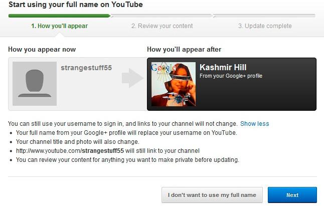 Ventana de YouTube