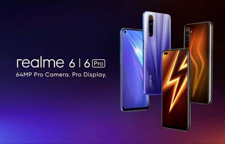 """Realme 6 y Realme 6 Pro: los 90 Hz y los 64 megapíxeles se acomodan en estos gama media preparados para el """"gaming"""""""