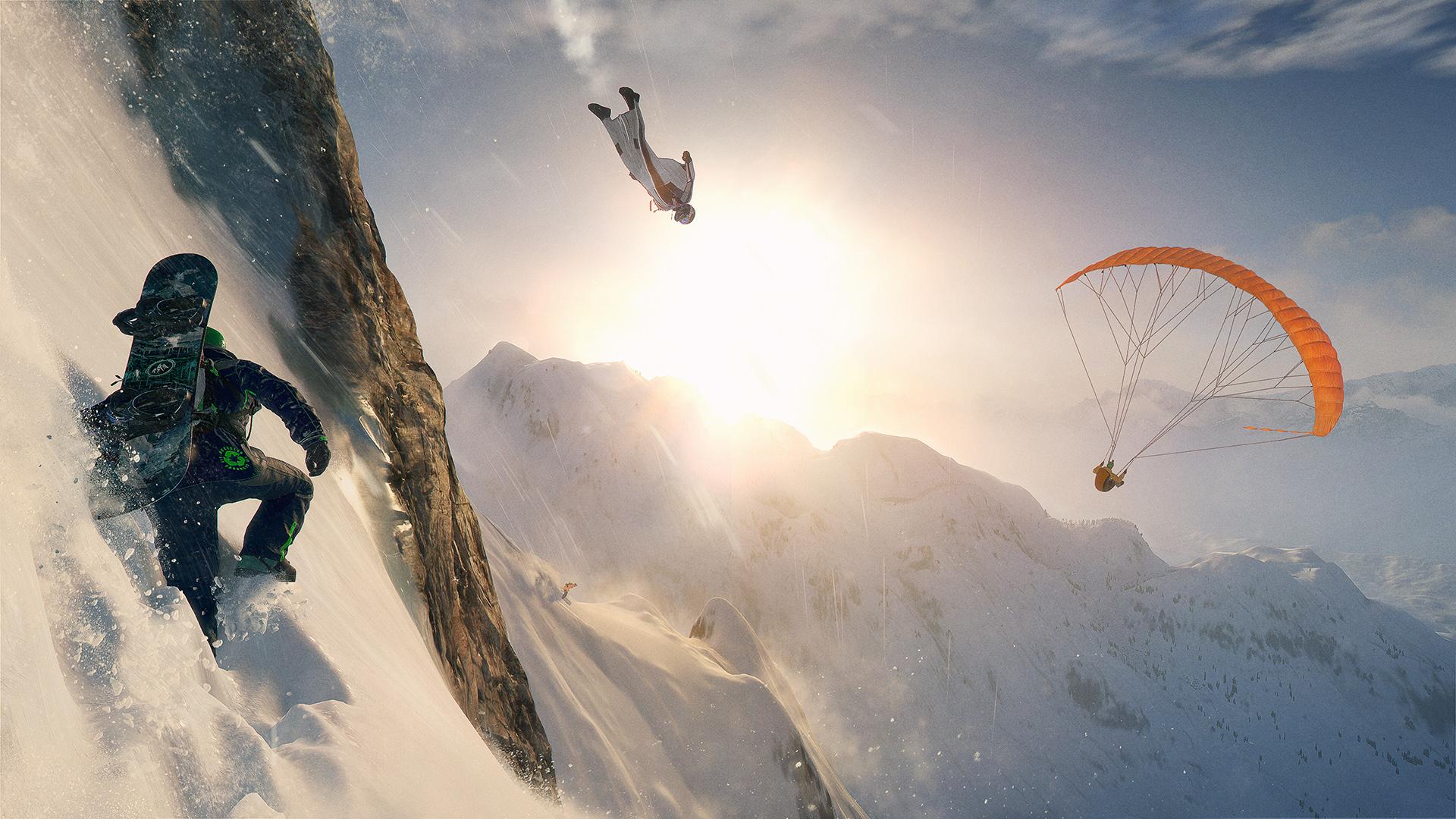Riesgo extremo en la montaña con Steep