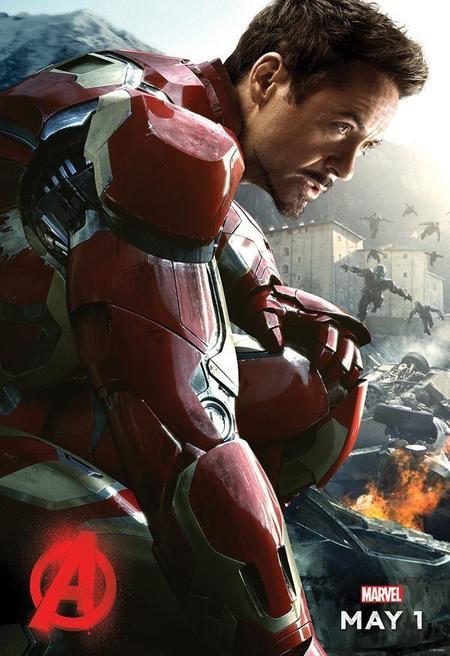 Cartel de Iron Man en Los Vengadores 2
