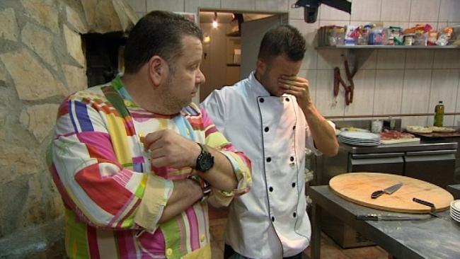 Alberto Chicote en un programa de 'Pesadilla en la cocina'