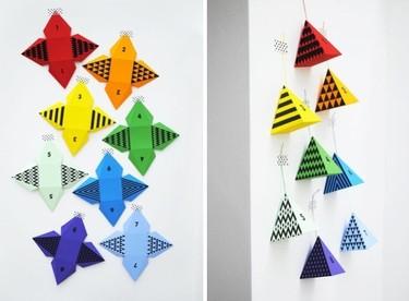 Hazlo tú mismo: un calendario de Adviento con pirámides de colores