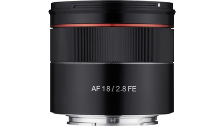Samyang Af 18mm F2 8 Fe Lens Side View Jpg Optimal