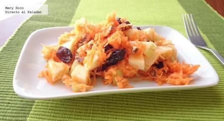 Ensalada de zanahoria y manzana. Receta