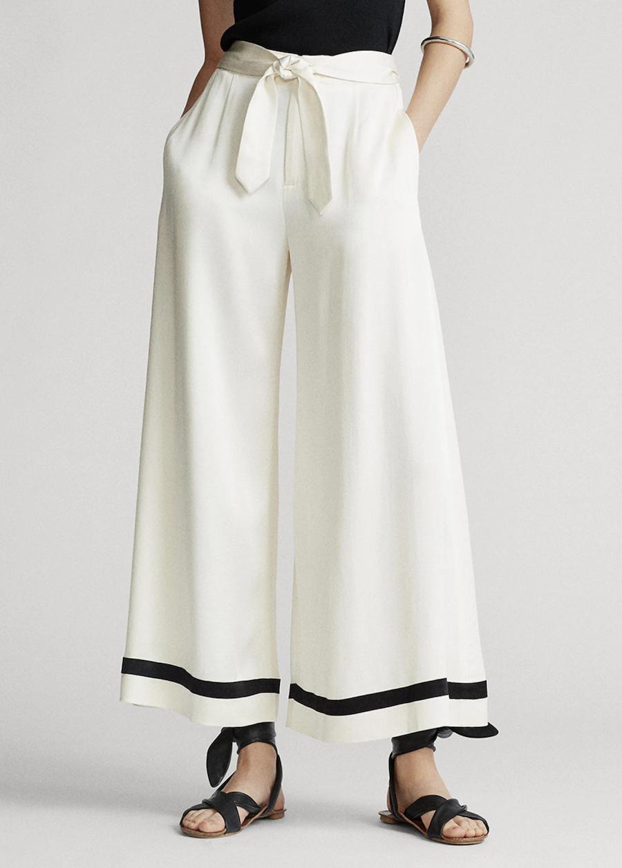 Pantalón de mujer de corte ancho liso