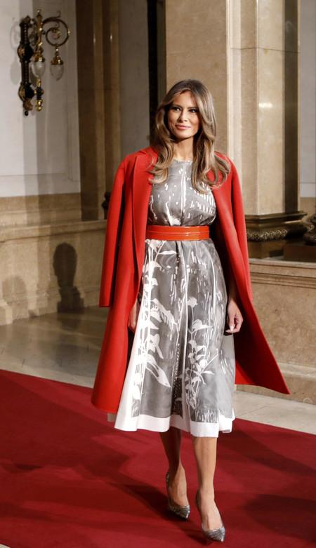 Melania Trump Look Hamburgo Jil Sander Bottega Veneta 2