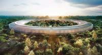 """Nuevas imágenes de la """"nave espacial"""" de Apple, el nuevo campus de Apple en Cupertino"""