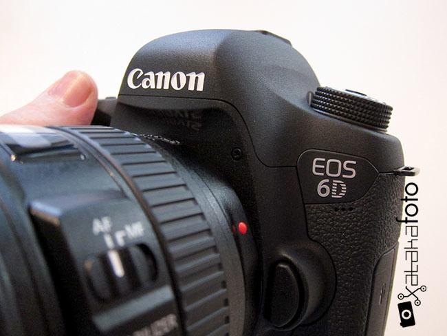 Canon EOS 6D detalle cuerpo