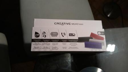 Detalles de la caja del Muvo mini de Creative