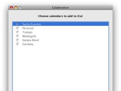 Calaboration, sincroniza Google Calendar e iCal
