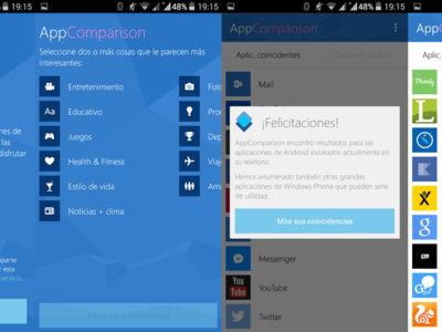 ¿Pensando en cambiar de Android a Windows Phone? AppComparison te dirá si podrás llevarte tus apps