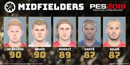 De Bruyne y Kroos, los mejores centrocampistas del mundo según PES 2019