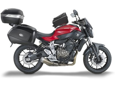 GIVI convierte la Yamaha MT-07 en una viajera sin fronteras