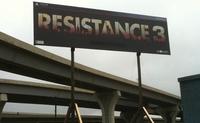 'Resistance 3': posible cartel publicitario fotografiado