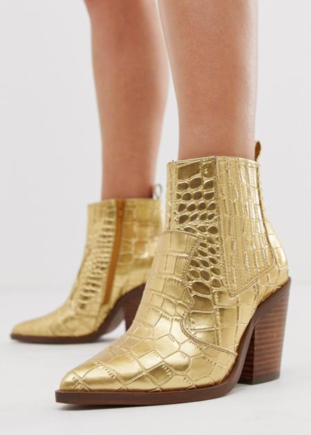 botines dorados
