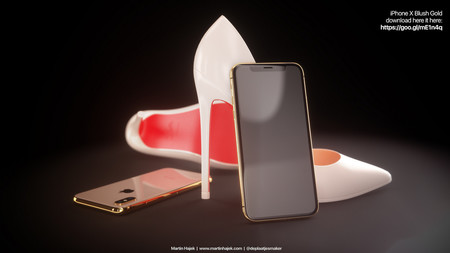 Iphone X Dorado Frontal Negro