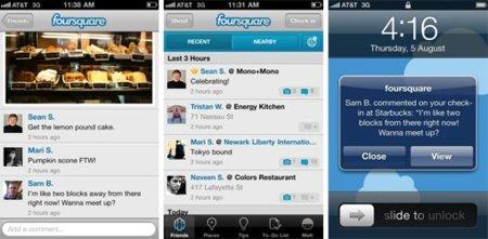 foursquare permite añadir imágenes y comentarios a los check-ins